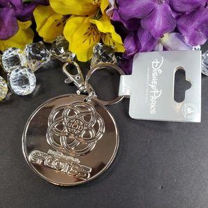 Disney Parks Epcot Silver Key Chain, New